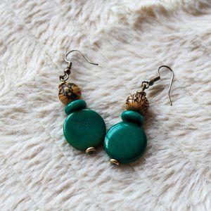 Blue Bead Vintage Earrings